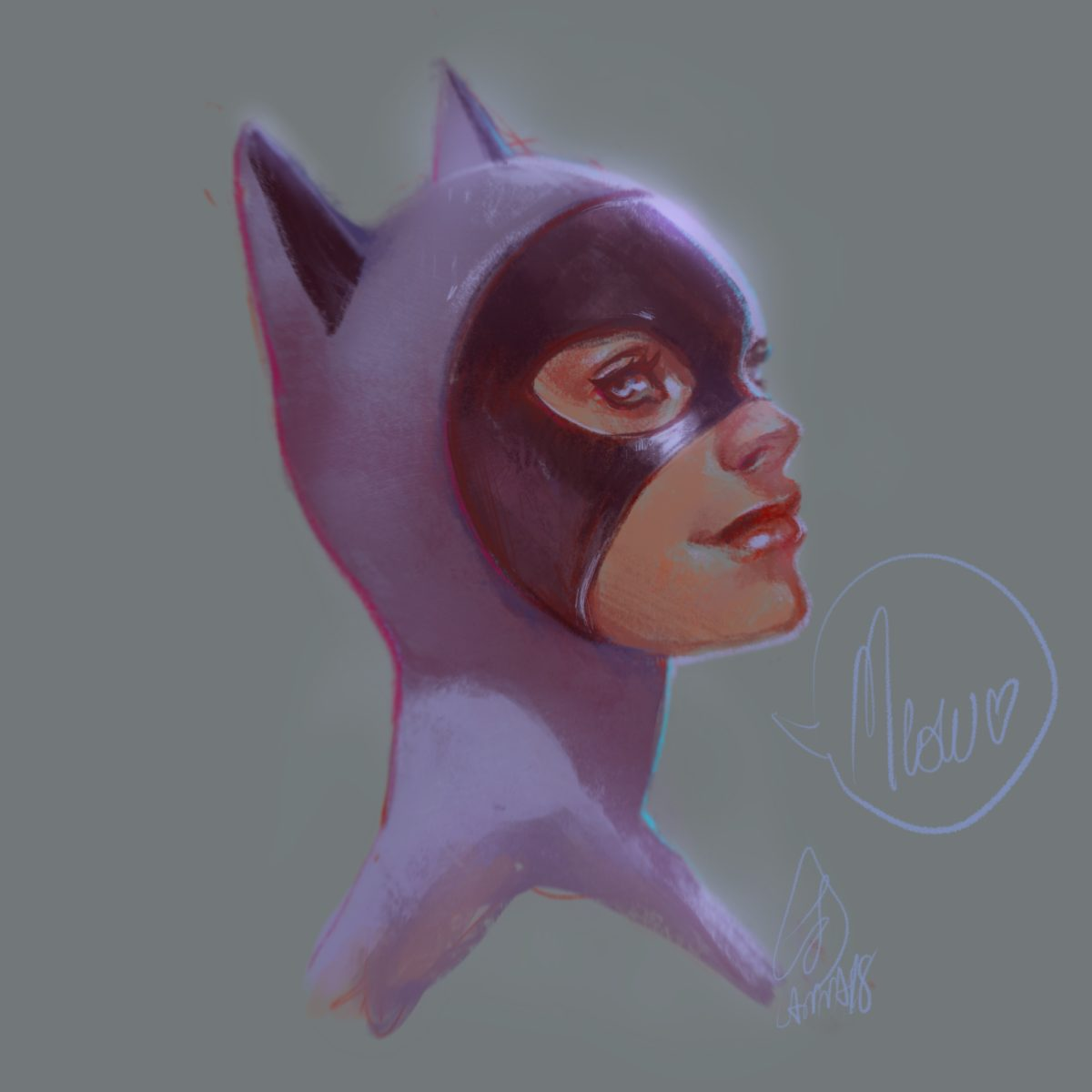 Catwoman head